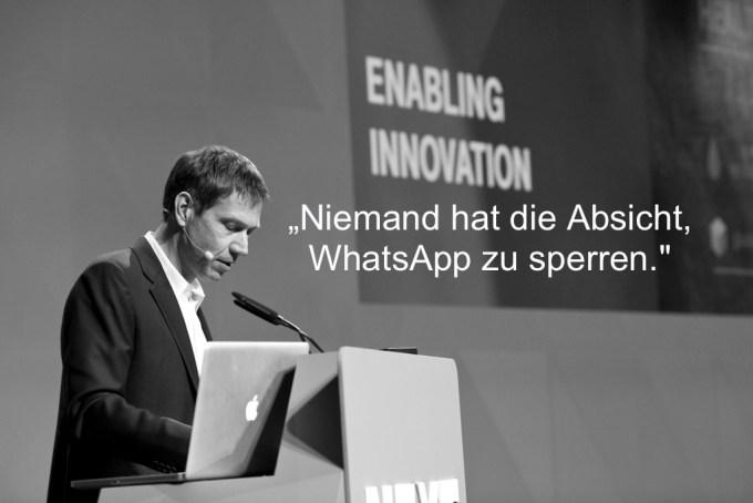 Niemand hat die Absicht, WhatsApp zu sperren.