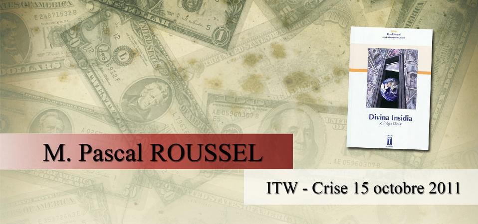ITW de Pascal ROUSSEL le 15 oct à Marseille