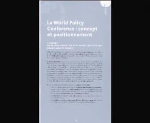 World Policy Conference et IFRI