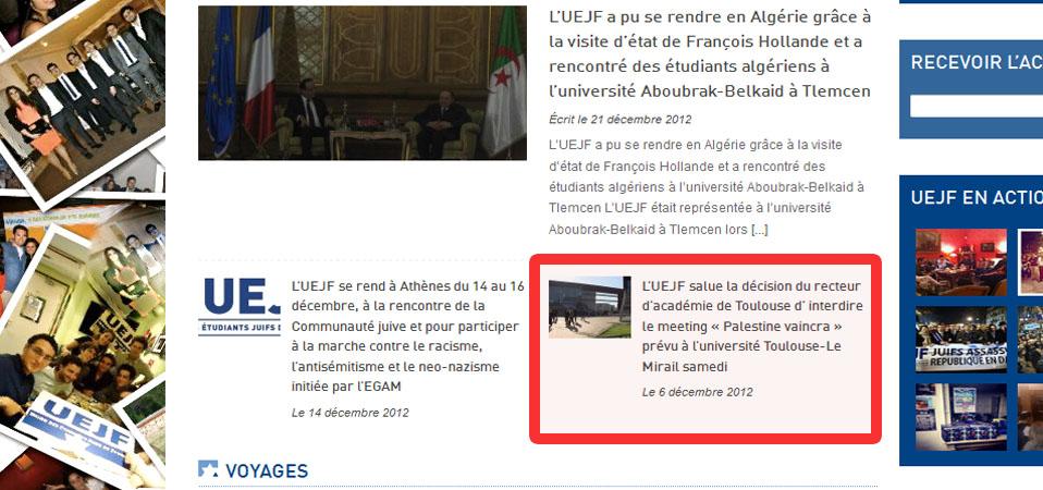 Scandale : l'UEJF se rend en Algérie dans les bagages de F. Hollande !