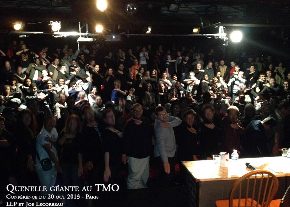 Quenelle géante au TMO lors de la conférence du 20 octobre