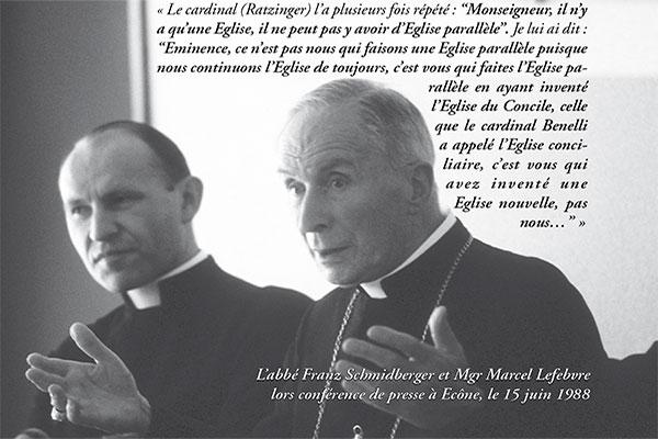 Mgr Lefebvre : l'Église est occupée par une loge maçonnique !