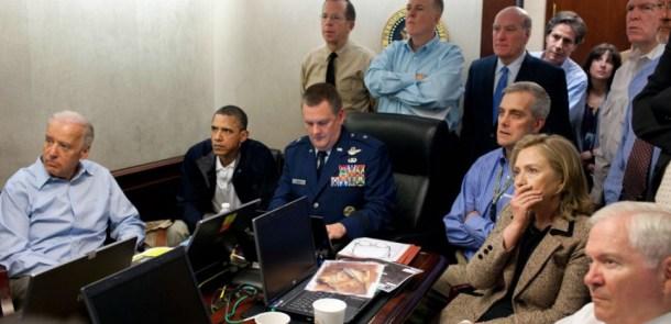 A la Maison Blanche, Obama et son équipe assistent en direct au raid contre Oussama Ben Laden, le 11 mai 2011