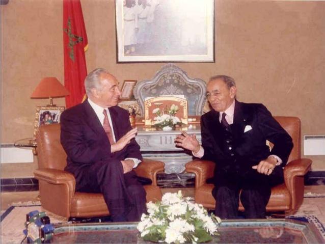 Hassan II et son ami Shimon...