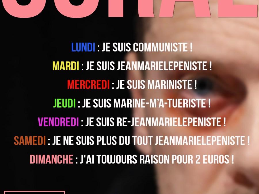 Soral lâche à nouveau Jean-Marie le Pen et se rallie à Marine !