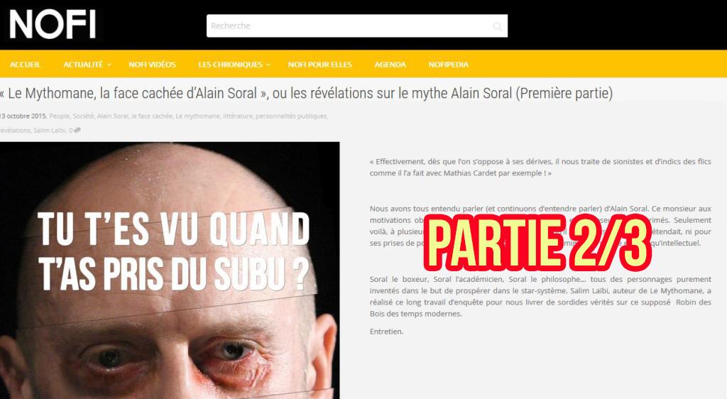 «Le Mythomane» : ITW de Salim LAÏBI par le site Noir et Fier (NOFI) – Partie 2/3