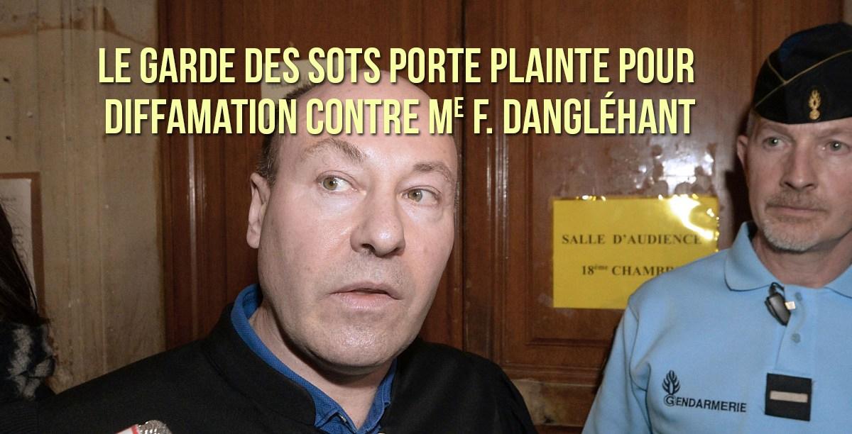 Le garde des Sceaux porte plainte pour diffamation contre Me Dangléhant