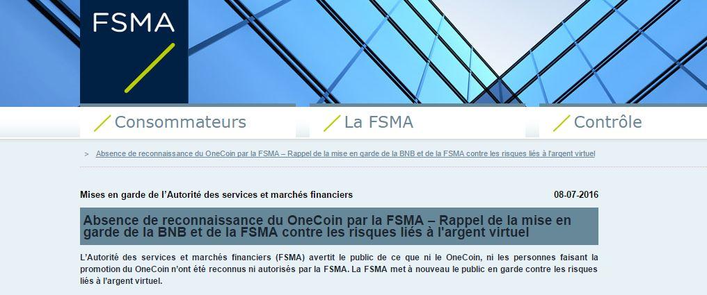 FSMA/Onecoin : le régulateur belge dément les affirmations de Laurent Louis !