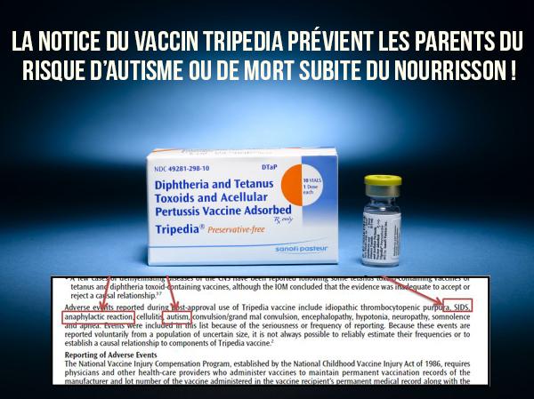 L'autisme et la mort subite repris dans la notice du vaccin diphtérie-tétanos-coqueluche