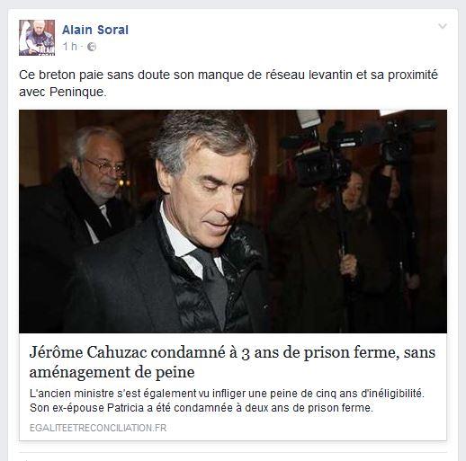 Le voyou Soral soutient le voleur Cahuzac : leur financier commun s'appelle Péninque !