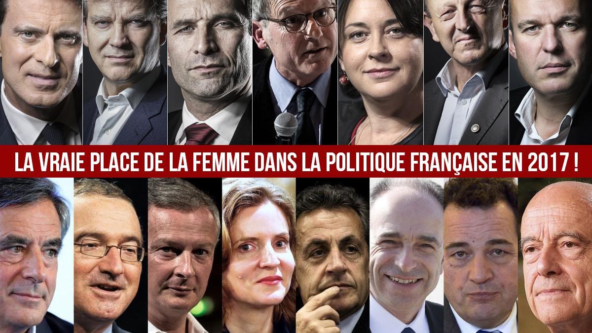 La vraie place de la femme dans la politique française en 2017 !