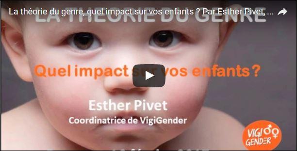La théorie du genre, quelles conséquences sur vos enfants ? par Esther Pivet