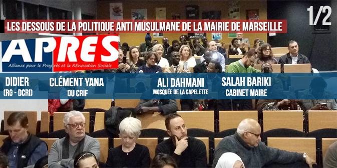Les dessous de la politique anti-musulmane, à la mairie de Marseille : Gaudin, Bariki, Djellil, Yana, les RG… [1/2]