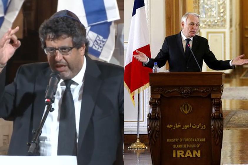 Jean-Marc Ayrault en Iran : une « honte » pour le sayan Meyer Habib !