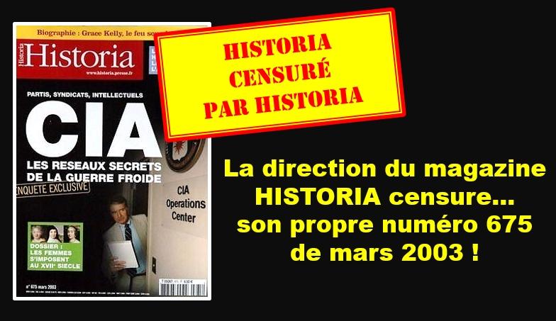 La direction du magazine Historia censure son propre numéro 675 sur le rôle de la CIA dans la construction de l'UE et met en demeure l'UPR !