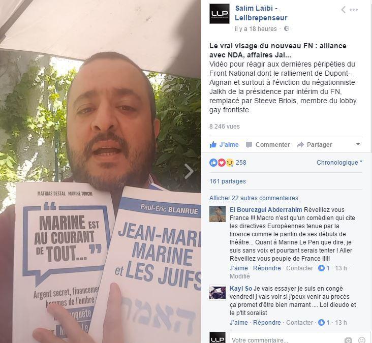 [vidéo Facebook #3] Le vrai visage du nouveau FN : alliance avec NDA, affaires Jalkh, Dieudonné/Montagne…