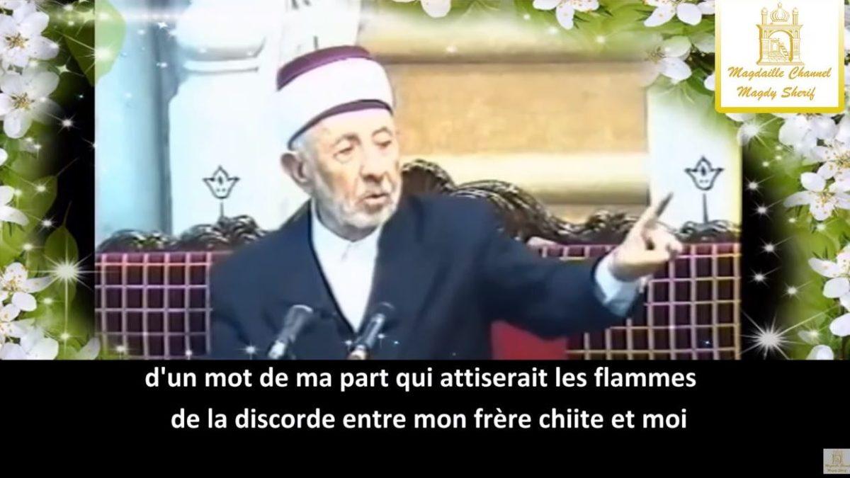Cheikh Al-Bouti : «Je suis d'obédience sunnite mais… «