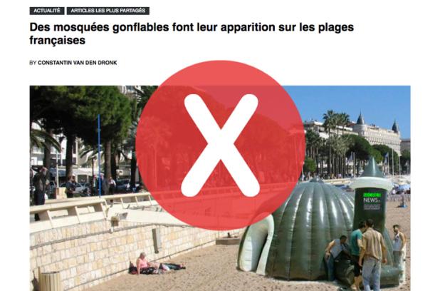 Non, il n'y a pas de mosquées gonflables sur les plages françaises