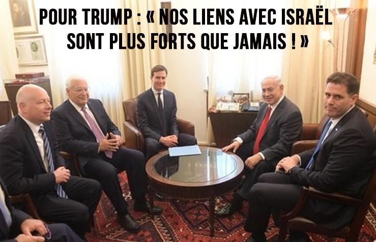 Super Méga Trump : « Nos liens avec Israël sont plus forts que jamais ! »