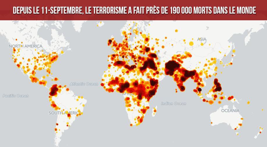 Depuis le 11 Septembre, le terrorisme a fait près de 190 000 morts dans le monde