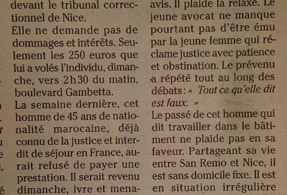 Science-fiction : histoire banale dans un tribunal français !