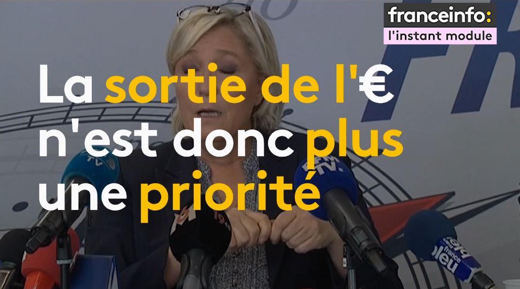 Marine Le Pen, la girouette politique
