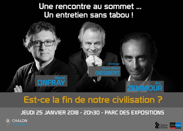 Bide : la « rencontre au sommet » entre Zemmour et Onfray annulée, faute de public
