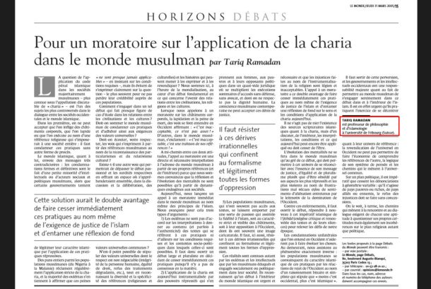 Tariq-ramadan-moratoire-Monde-Fribourg-usurpation-titre
