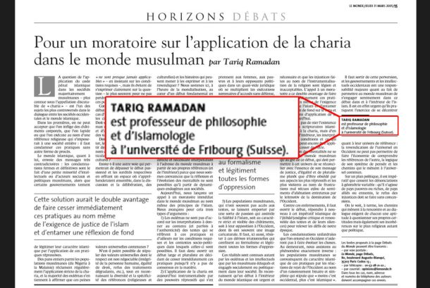 Tariq-ramadan-moratoire-Monde-Fribourg-usurpation-titre2