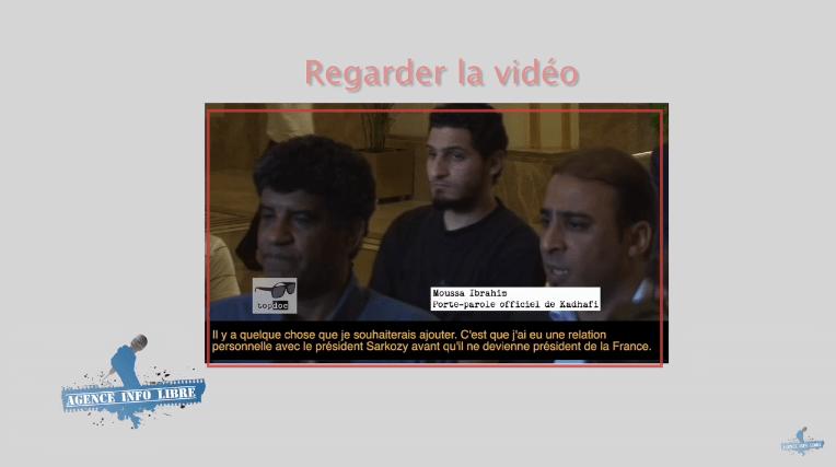 Il y a 4 ans les premiers à publier l'interview de Senoussi contre Sarkozy : Top Doc (Teil et Blanrue) et l'Agence info libre