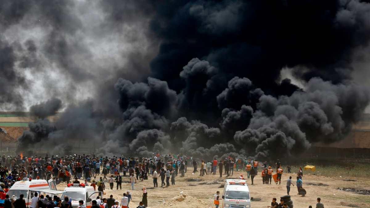 Plus d'une centaine de Palestiniens blessés par balles dans la bande de Gaza