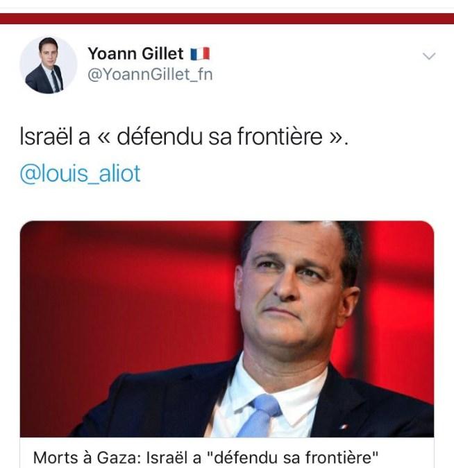 Marine Le Pen a envoyé « un message clair » à israël