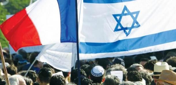 drapeau-francais-drapeaux-israeliens-foule-juive