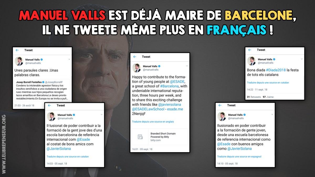 Manuel Valls ne tweete plus en français mais en espagnol !