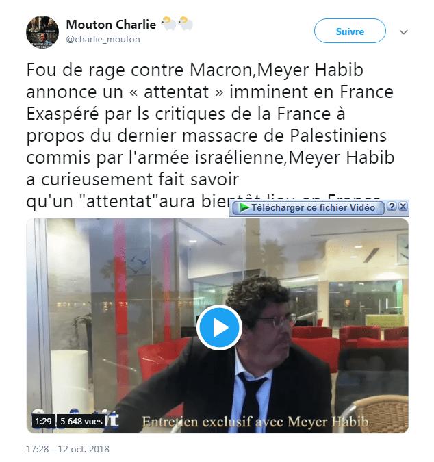 Meyer Habib fou de rage !