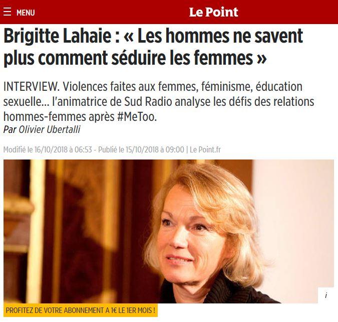 Racisme : Brigitte Lahaie et Le Point attaquent les musulmans !