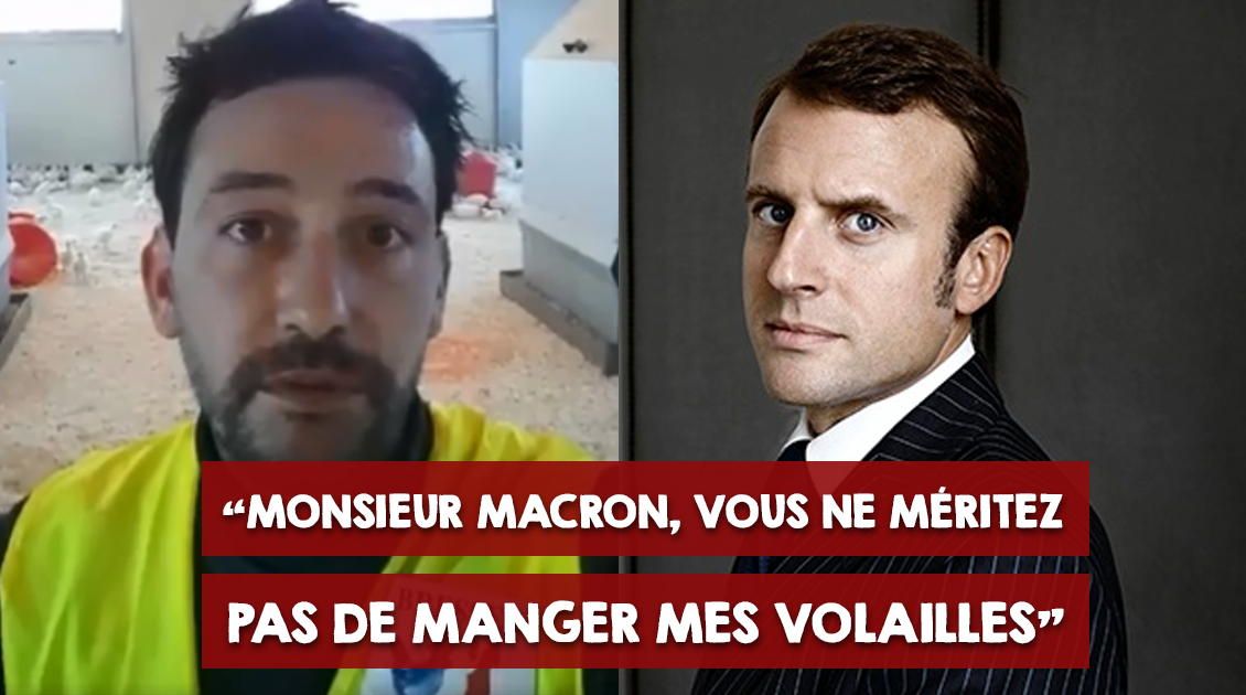 « Monsieur Macron, vous ne méritez pas de manger mes volailles »