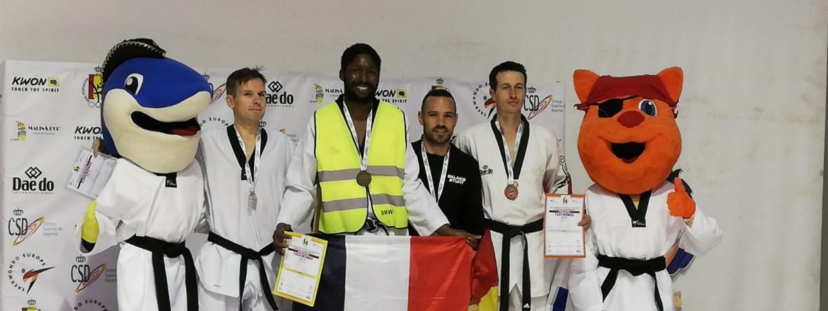 Mamoudou Bassoum, le « Gilet Jaune »  champion d'Europe de Taekwondo !