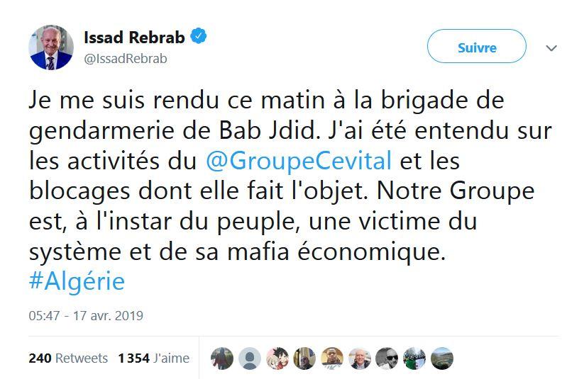 Algérie : arrestation d'Issad Rebrab et d'autres oligarques !