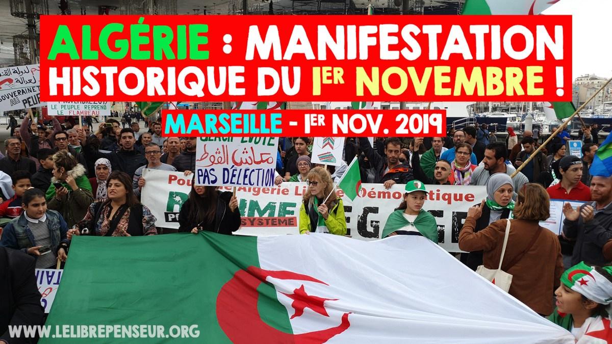 Algérie : manifestation à Marseille du 1er Novembre