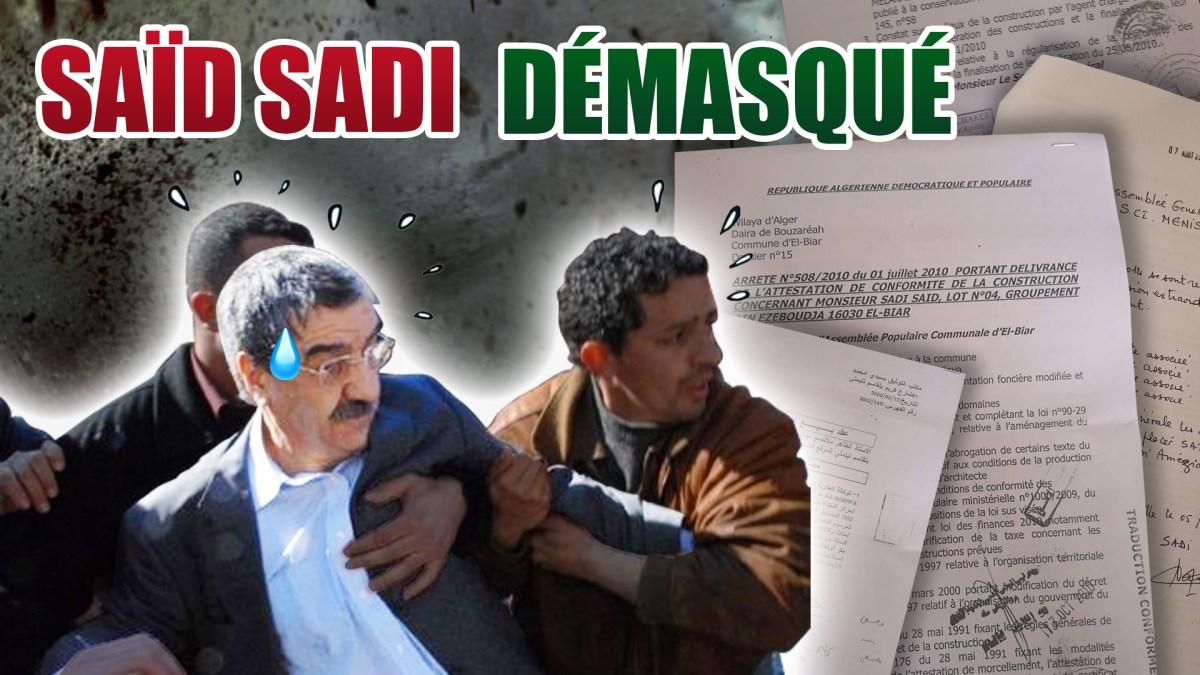 L'imposture Saïd Sadi enfin démasquée, par Salim Laïbi