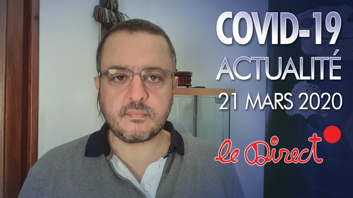 Coronavirus : Actualité du 21 Mars 2020 – Masques, Tests massifs à Marseille, Big Pharma…
