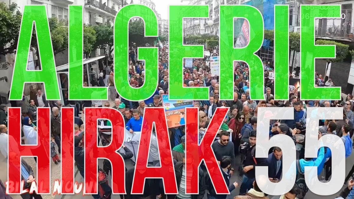 Algérie : des millions de manifestants pour le 55e Hirak du vendredi 6 mars 2020 ! [vidéos + photos]
