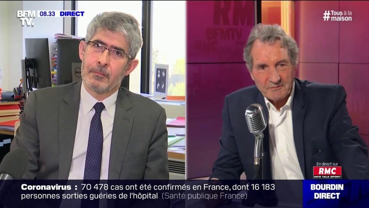 Gilles Bloch PDG de l'INSERM, répondait aux questions de Jean-Jacques Bourdin ce lundi 6 avril