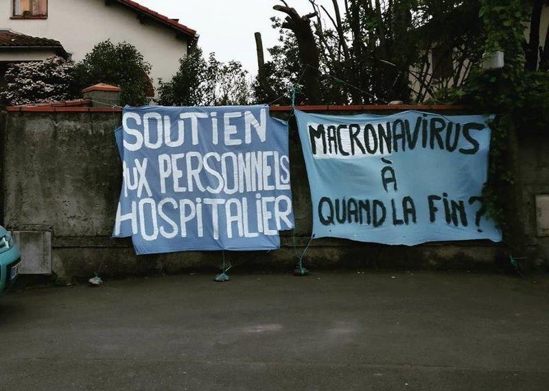 Répression politique à Toulouse : en garde à vue pour une banderole «Macronavirus»