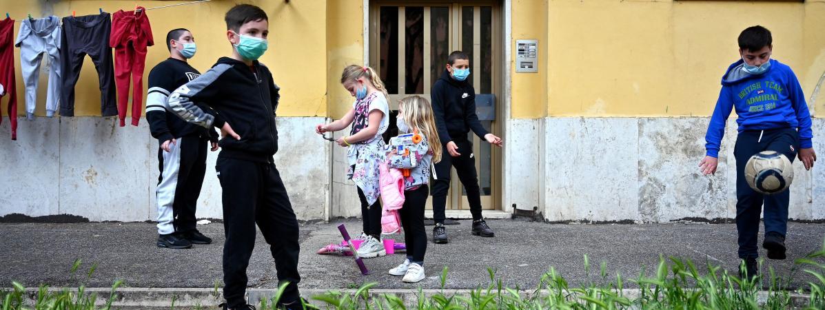 En Italie, 700 000 enfants sont en difficulté alimentaire à cause de l'épidémie de Covid-19