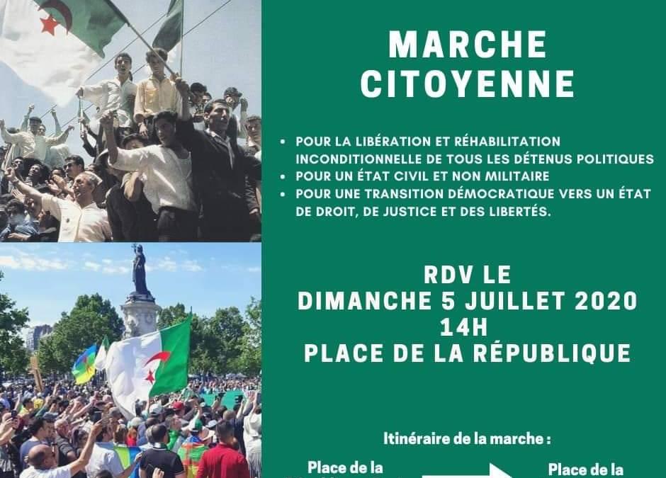 Hirak : 15.000 manifestants à Paris ce 5 juillet 2020 ignorés par les médias parisiens !