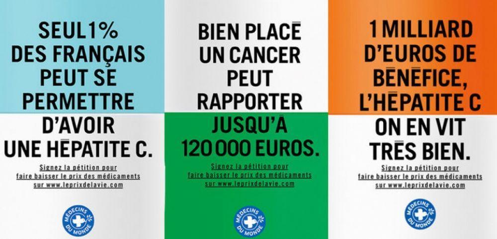 Médecins du Monde en lutte contre les profits de Big Pharma qui fait 20 000 % de marge brute pour traiter la leucémie !