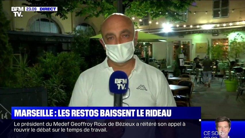 Frédéric Jeanjean, restaurateur et secrétaire général de l'Umih 13  fustige la décision d'Emmanuel Macron de fermer les restaurants jusqu'en janvier 2021
