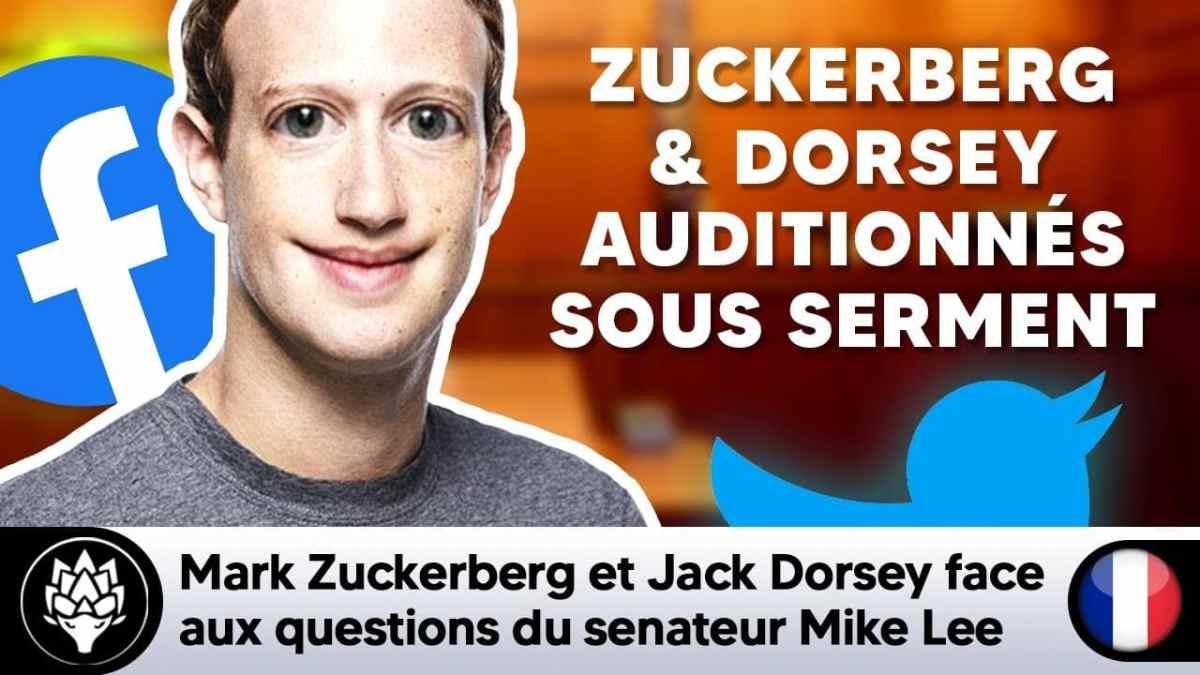 Zuckerberg & Dorsey (Twitter) répondent sous serment aux questions du sénateur Mike Lee